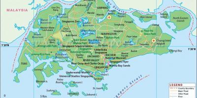 Karte Anzeigen.Singapur Map Karten Singapur Republik Singapur
